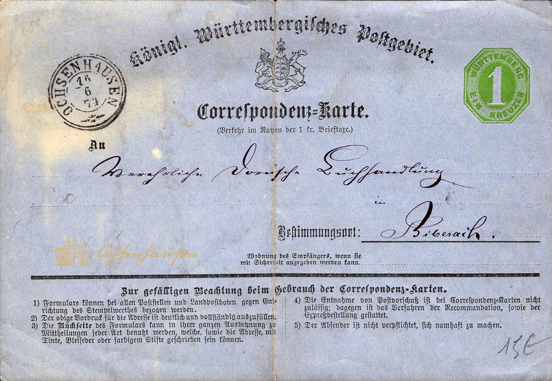 Königlich Württembergisches Postgebiet